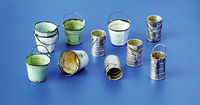Metal buckets and cans - Image 1