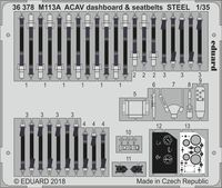 M113A ACAV dashboard & seatbelts STEEL  AFV CLUB - Image 1