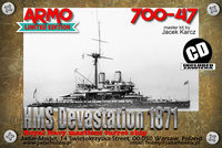 HMS Devastation 1871 - Royal Navy mastless turret ship