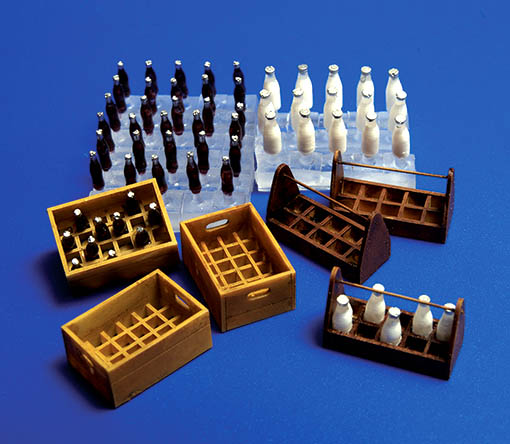 Milk bottles and crates - Image 1