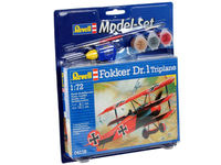 German IWW fighter Fokker DR.1 Triplane (model set)