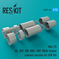 MiG-25 RB, RBT, BM, RBK, RBF, RBSh Foxbat exhaust nozzles for ICM Kit