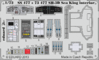 SH-3D Sea King interior S. A.  CYBER HOBBY