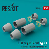 F-18 Super Hornet Type 1  exhaust nozzles for Revell Kit - Image 1