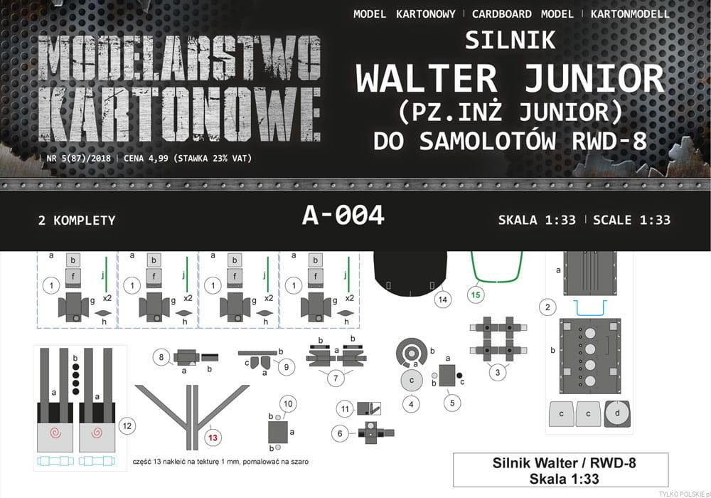 silnik WALTER JUNIOR do RWD-8 - Image 1