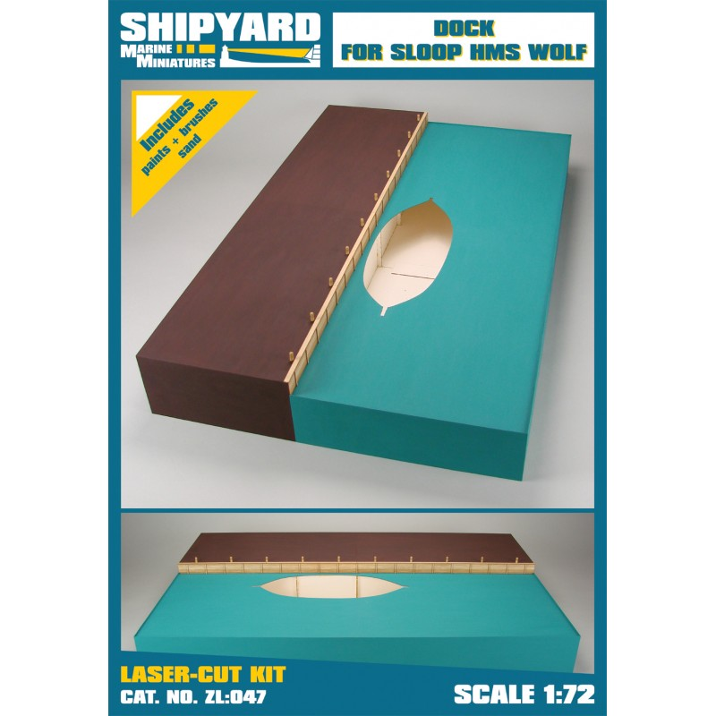 Dock for Sloop HMS Wolf skala 1:72 - Image 1