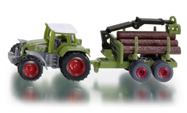 Tractor with Forestry Trailer - Image 1