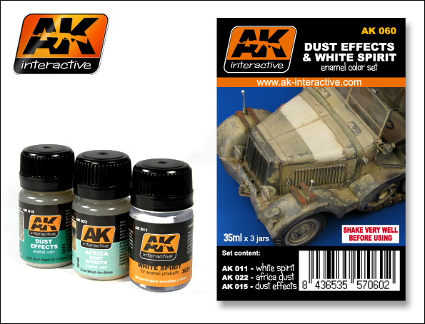 AK 060 DUST EFFECTS AND WHITE SPIRIT SET - Image 1