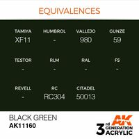 AK 11160 Black Green