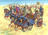 Persian chariot and cavalry IV BC