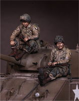 U.S. Army Airbornes on Sherman - Image 1