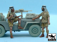 British SAS Jeep Crew Afrika (2 figures) for Tamiya kits