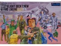 Modern US Navy Flight Deck Crew and Fire Engine