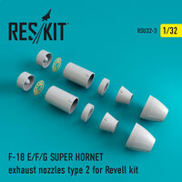 F-18 SUPER HORNET Type 2 exhaust nozzles for Revell - Image 1