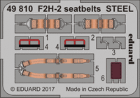 F2H-2 seatbelts STEEL KITTYHAWK KH80131 - Image 1