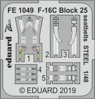 F-16C Block 25 seatbelts STEEL TAMIYA - Image 1