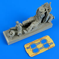 Soviet fighter pilot with ejection seat for MiG-21/MiG-23 Figurines