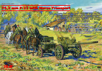 76,2mm F-22 WWII Soviet Divisional Gun with Horse Transport