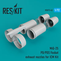 MiG-25 PD/PDS Foxbat exhaust nozzles for ICM Kit