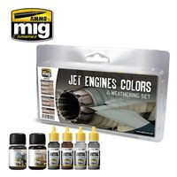 A.MIG-7445 JET ENGINES COLORS AND WEATHERING SET