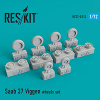 Saab 37 Viggen wheels set