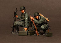 German machine gunner MG 34 team.1939-42 2 figures