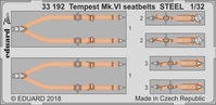 Tempest Mk.VI seatbelts STEEL  SPECIAL HOBBY