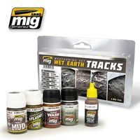 A.MIG 7438 Weathering Set - Wet Earth Tracks